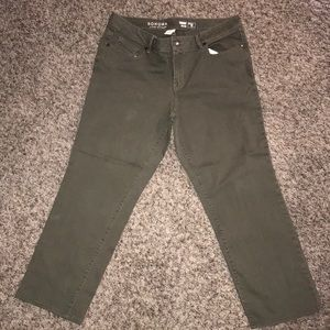 Sonoma green ankle jeans